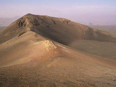 Orange Volcano Crater, Timanfaya National Park (Fire Mountains), Lanzarote, Canary Islands, Spain