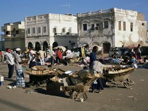 Outdoor Bazaar Scene, Djibouti City, Djibouti, Africa by Ken Gillham