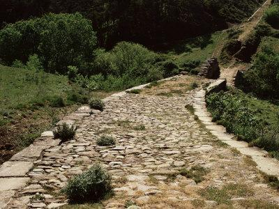 Roman Road Near Cirauqui, on the Camino, Navarre, Spain