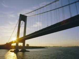 Verrazano Narrows Bridge, Approach to the City, New York, New York State, USA by Ken Gillham