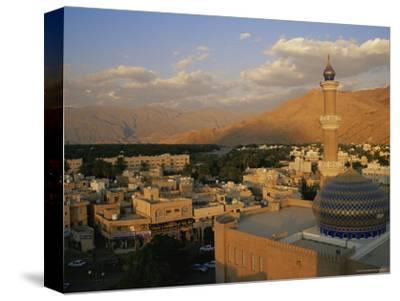 View from Nizwa Fort to Western Hajar Mountains, Nizwa, Oman, Middle East
