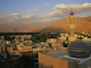 View from Nizwa Fort to Western Hajar Mountains, Nizwa, Oman, Middle East by Ken Gillham