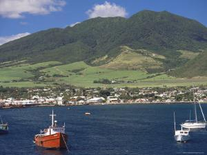 View to Basseterre, St. Kitts, Leeward Islands, West Indies, Caribbean, Central America by Ken Gillham