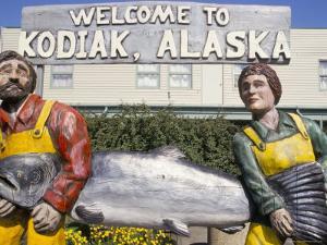 Welcome Sign, Kodiak Island, Kodiak, Alaska, USA by Ken Gillham