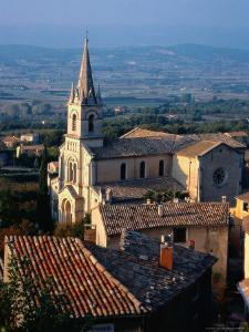 Aerial of Church, Provence, France by Ken Glaser