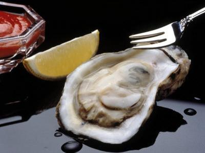 Oyster on Halfshell with Lemon and Sauce by Ken Glaser