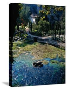 Water, House and Couple, Provence, FR by Ken Glaser