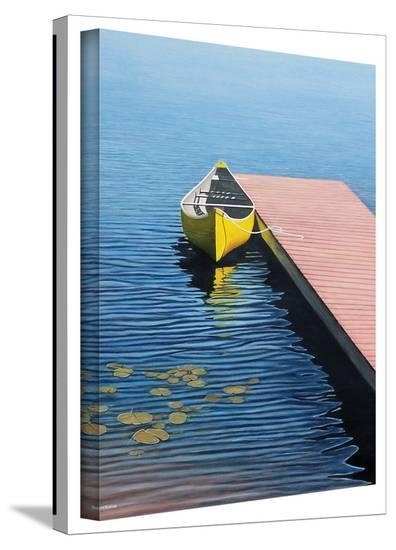 Ken Kirsch 'Yellow Canoe' Wrapped Canvas-Ken Kirsch-Gallery Wrapped Canvas