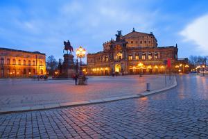 Germany, Saxony, Dresden. the Famed Semper Opera House. by Ken Scicluna
