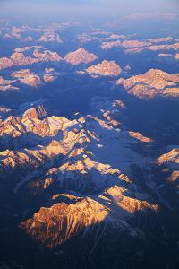 Italy, Alps. Aerial View of Alps. by Ken Scicluna
