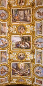 Italy, Campania, Naples. a Painted Church Ceiling. by Ken Scicluna