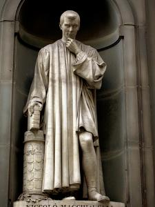 Italy, Florence, Western Europe, Statue of Niccolo Machiavelli Mostly known for Writing 'The Prince by Ken Scicluna