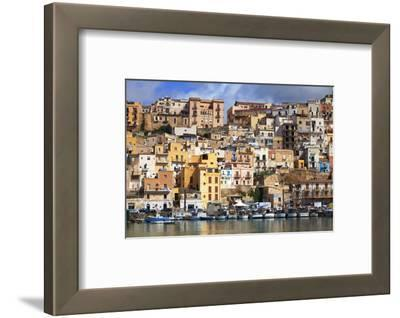 Italy, Sicily, Sciacca. the Port with the Houses in the Historic Centre.