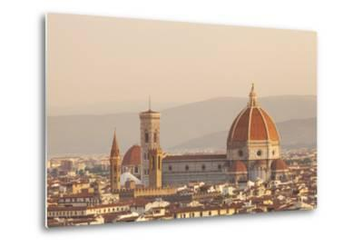 Italy, Tuscany, Florence. Overview of the City with Brunelleschi Cupola on the Duomo. Unesco.