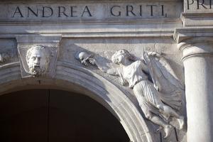 Italy, Veneto, Padua. Detail of Sculpture on Facade. by Ken Scicluna