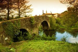 Spain, Galicia, an Old Bridge on the Camino Di Santiago by Ken Scicluna