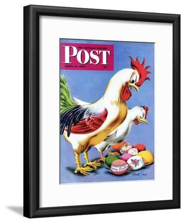 """""""Easter Eggs and Chickens,"""" Saturday Evening Post Cover, April 24, 1943"""