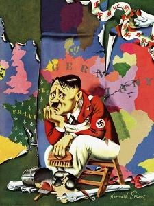 """Hitler as Wallpaperer,"" July 31, 1943 by Ken Stuart"