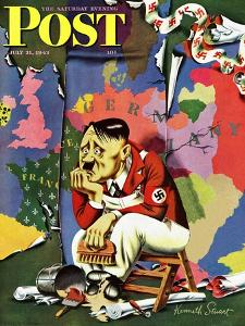 """Hitler as Wallpaperer,"" Saturday Evening Post Cover, July 31, 1943 by Ken Stuart"