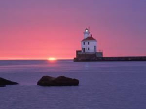 Wisconsin Point Lighthouse, WI by Ken Wardius