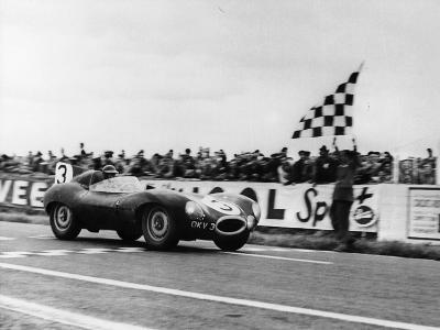 Ken Wharton in a Jaguar D Type, Rheims 12 Hours Race, France, 3rd July 1954--Photographic Print