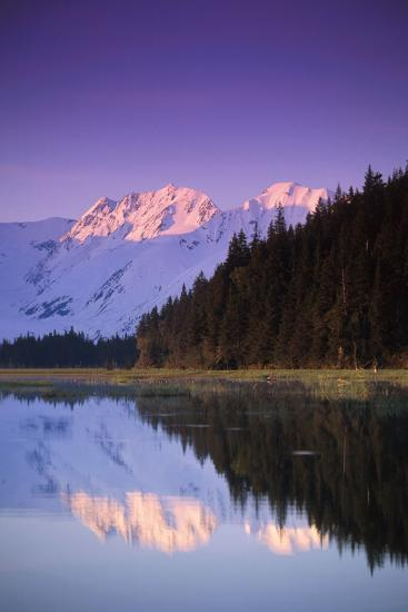 Kenai Mtns Reflected in Lake Southcentral Ak Summer Scenic-Design Pics Inc-Photographic Print