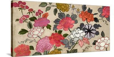 Kendra Wall Flowers--Stretched Canvas Print