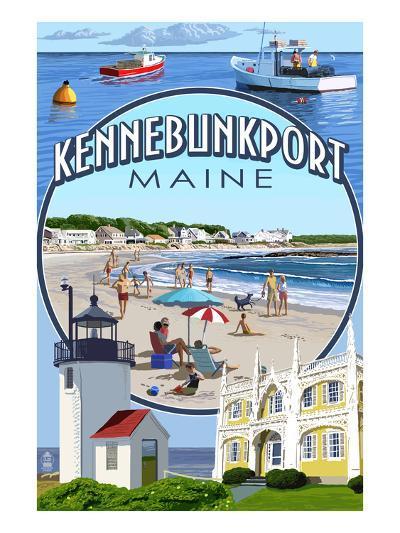 Kennebunkport, Maine - Montage Scenes-Lantern Press-Art Print