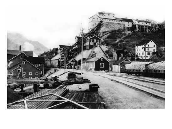 Kennecott, Alaska - View of the Town-Lantern Press-Art Print