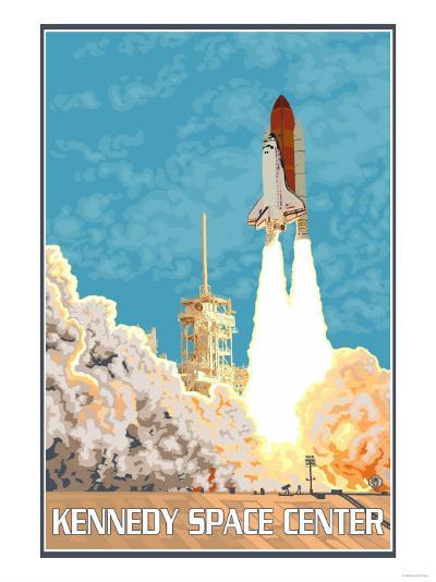 Kennedy Space Center, Cape Canaveral, Florida-Lantern Press-Art Print