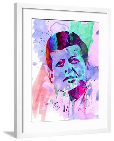 Kennedy Watercolor 2-Anna Malkin-Framed Art Print