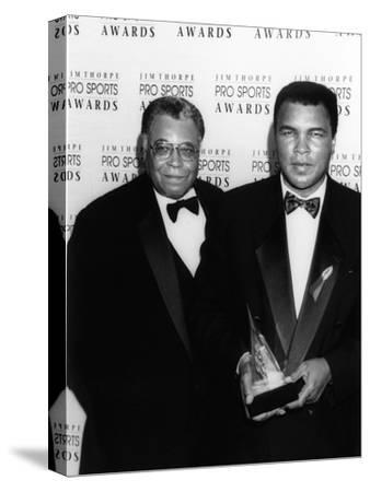 Muhammad Ali with Actor James Earl Jones at the Jim Thorpe Pro Sports Awards, July 6, 1992