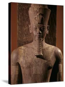 A Quartzite Lifesize Statue Amenhotep III As the God Atum by Kenneth Garrett
