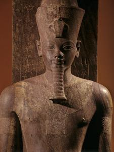 A Quartzite Lifesize Statue Amenhotep III As the God Atum by Kenneth Garrett