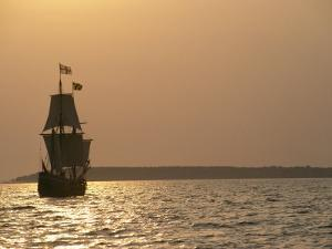 A Replica of the Maryland Dove, a 17th Century Sailing Ship by Kenneth Garrett