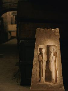 A Shrine from Marsa Matruh Holds Images of the Gods Ptah and Sekhmet by Kenneth Garrett