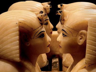 Alabaster Canopic Jars of Tutankhamun, King Tut, Egyptian Museum, New Kingdom, Cairo, Egypt