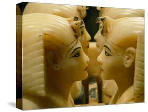 Alabaster Carvings Found in the Tomb of Tutankhamun by Kenneth Garrett