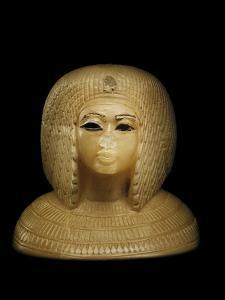 Canopic Jar Lid With the Image of Queen Kiya, Akhenaten's Second Wife by Kenneth Garrett