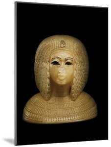Canopic Jar Lid With the Image of Queen Kiya, Akhenaten's Second Wife by Kenneth Garrett
