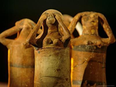 Clay Statuettes of Mourner, Bahariya Museum, Bahariya Oasis, Valley of the Golden Mummies, Egypt