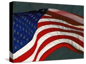 Close View Of One The American Flags Surrounding Washington Monument By Kenneth Garrett