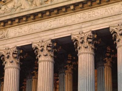 Closeup of the U.S. Supreme Court Building, Washington, D.C.