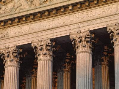 Closeup of the U.S. Supreme Court Building, Washington, D.C.