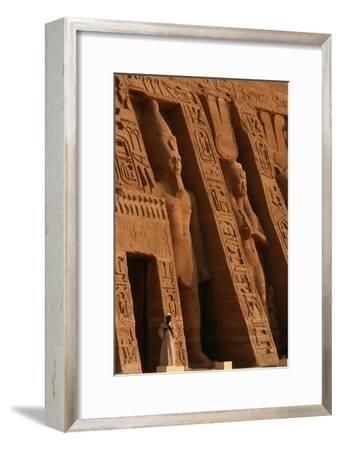 Colossi of Ramses II and Nefertari on the Nefertari Temple