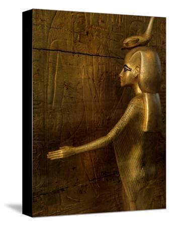 Detail of Goddess Selket, Pharaoh Tutankhamun, Egyptian Museum, Egypt