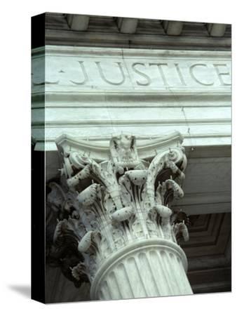 Detail of the U.S. Supreme Court Building, Washington, D.C.