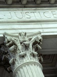 Detail of the U.S. Supreme Court Building, Washington, D.C. by Kenneth Garrett