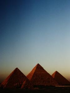 Distant View of the Pyramids of Giza by Kenneth Garrett