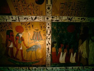 Funerary Scene from Tomb of Sennedjem, Deir el Medina, near Luxor, Egypt
